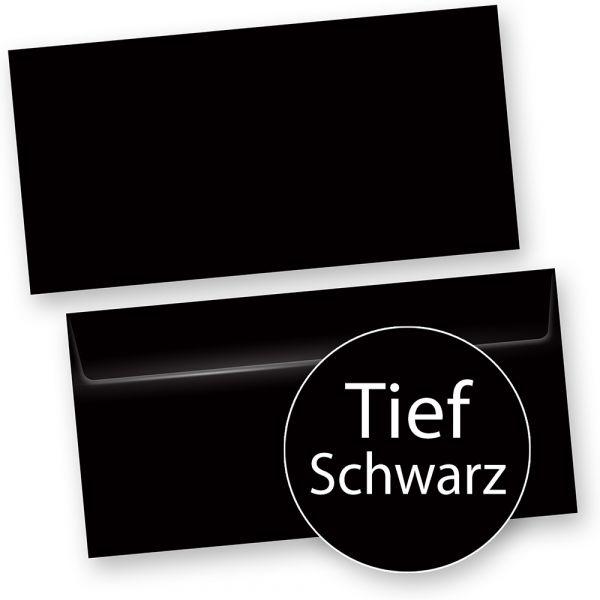 PREMIUM Briefumschläge Schwarz DIN lang  (250 Stück) DIN lang selbstklebend mit Haftklebestreifen