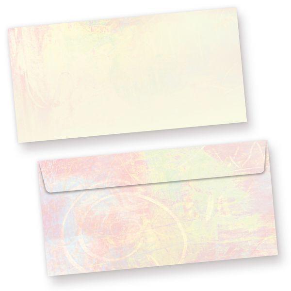 Briefhüllen Pastell (500 Stück) DIN lang Umschlag, beidseitig mit pastellfarbenem Motiv. Passendes Briefpapier erhältlich oder auch als Set.