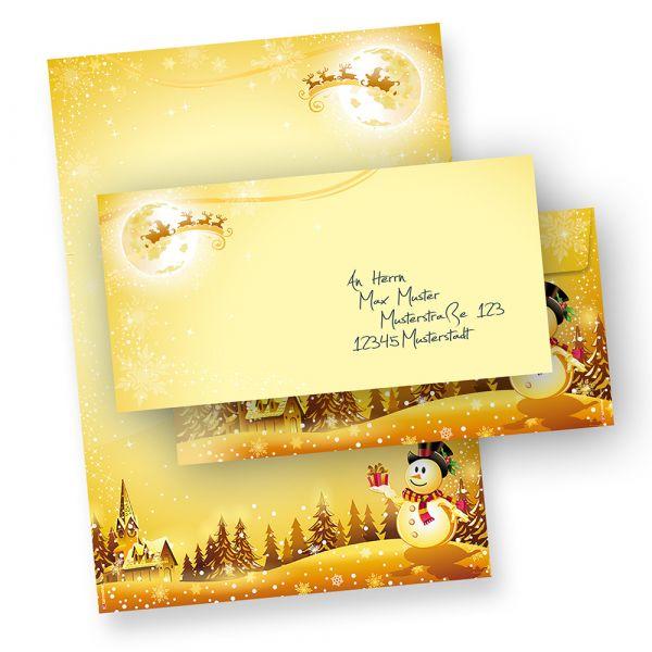 Briefpapier Set Schneemann (25 Sets ohne Fenster)
