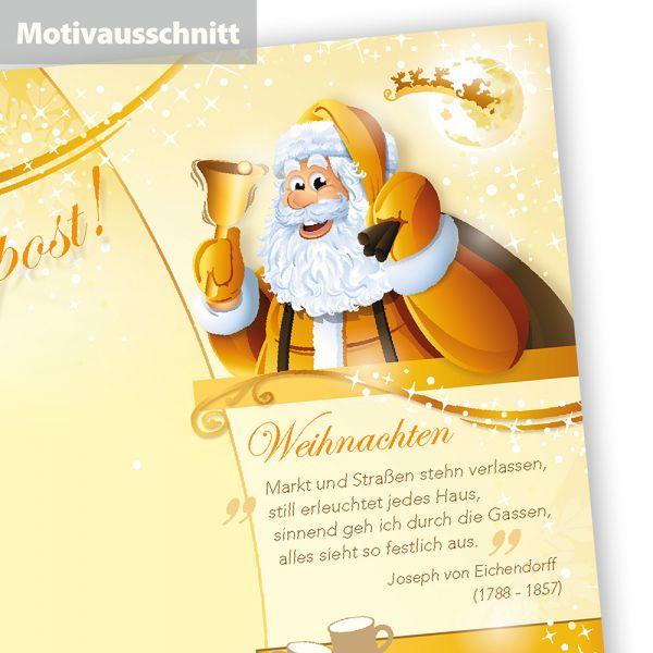 Briefpapier Weihnachtspost (250 Blatt)  doppelseitig, bedruckbar für Weihnachten