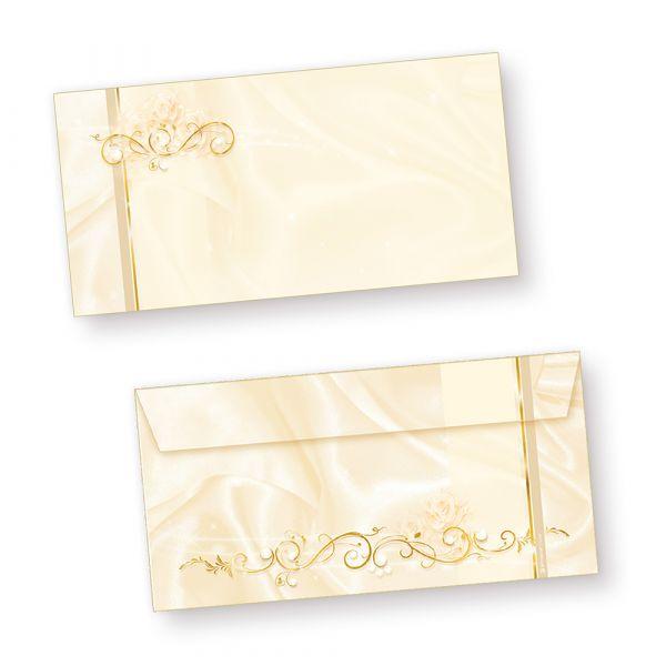 Hochzeit Briefumschläge perlmutt (50 Stück) selbstklebend haftklebend