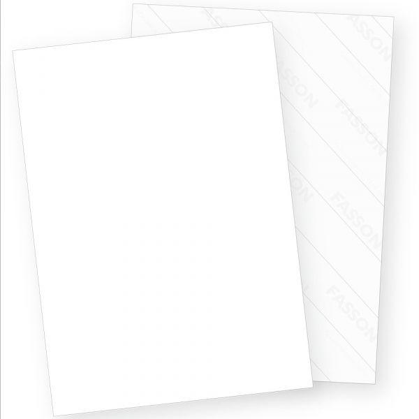 Fasson Velluxe Aufkleber A4 selbstklebend mit Crack-Back Plus Rückseite geschlitzt (25 Blatt)