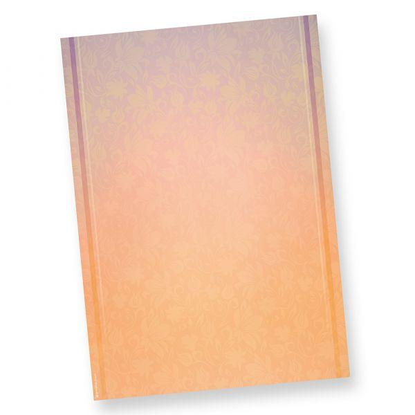 Briefpapier HARMONIE (50 Blatt) beidseitig bedruckt mit harmonischen Farben