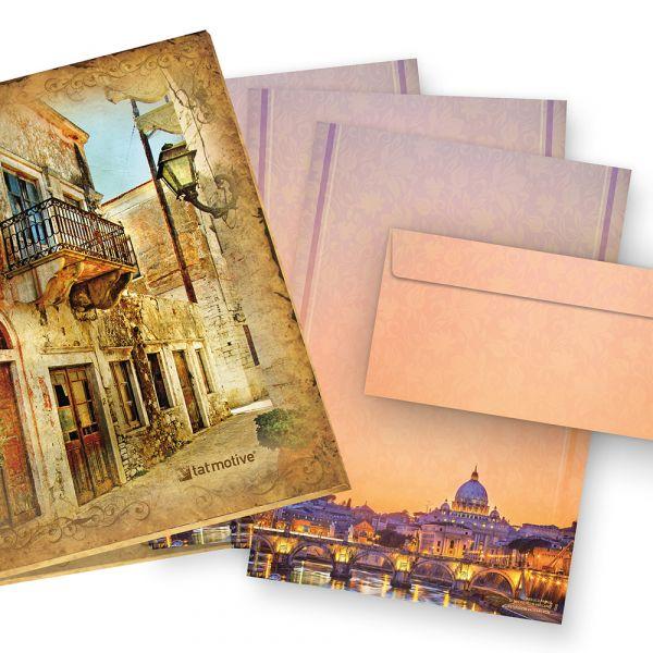 Briefpapier Petersdom Rom (25 Sets mit Umschläge) Geschenkset Mappe