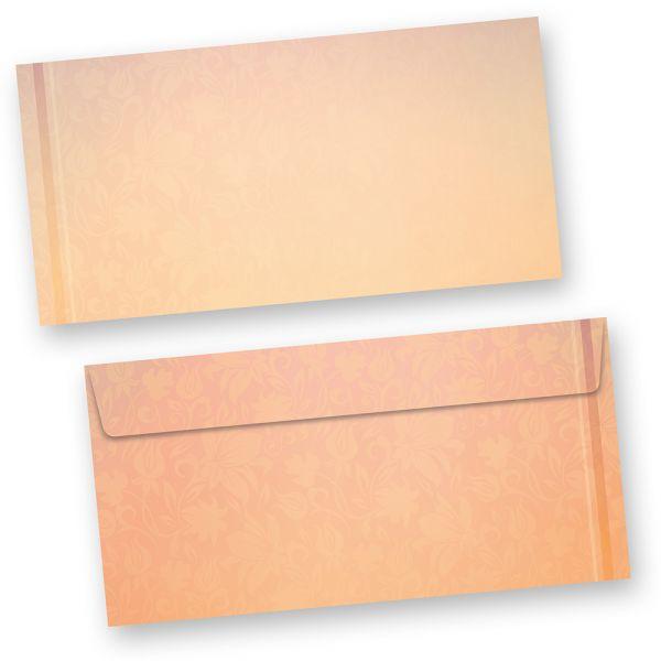Briefhüllen Harmonie (500 Stück) beidseitig bedrucktes DIN lang Kuverts, in besonders harmonischen Farben