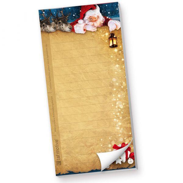 Notizblock Nordpol Express (40 Stück)  mit Weihnachtsmann