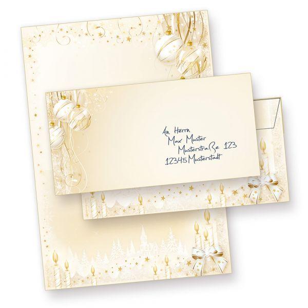 Märchenhaftes Weihnachtsbriefpapier Set (25 Sets ohne Fenster)  mit Umschläge