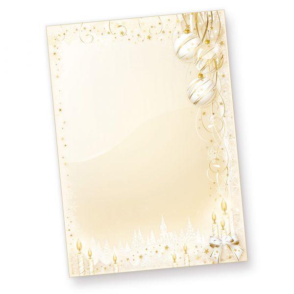 Märchenhaftes Weihnachtsbriefpapier (50 Blatt)  bedruckbar