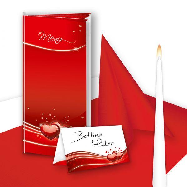 tischdeko hochzeit set rot 16 g ste tischdekoration komplett rote herzen. Black Bedroom Furniture Sets. Home Design Ideas