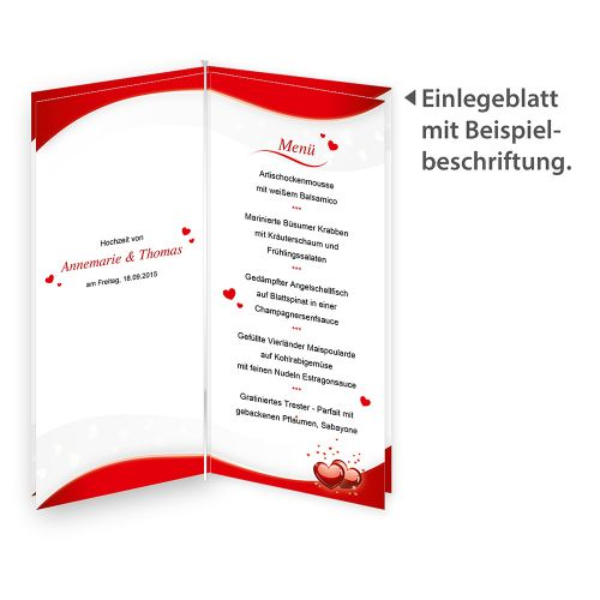 Blätter für Menü Liebe (40 Blatt)
