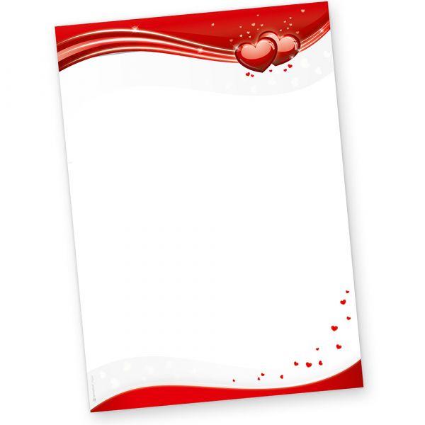 Liebe Briefpapier für Liebesbriefe rot (50 Stück) DIN A4 90 g/qm