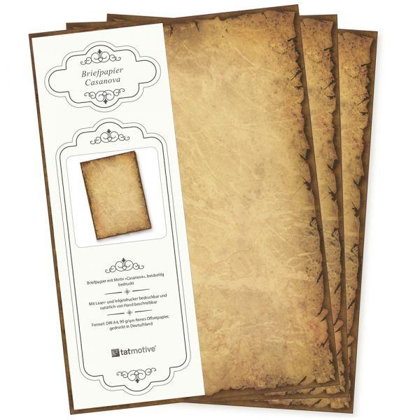 Altes Briefpapier CASANOVA (1000 Blatt) große Stückzahl