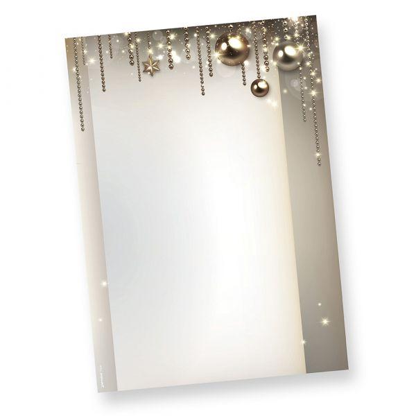 Briefpapier Weihnacht NOBLESSE (250 Blatt)  exklusiv DIN A4 bedruckbar