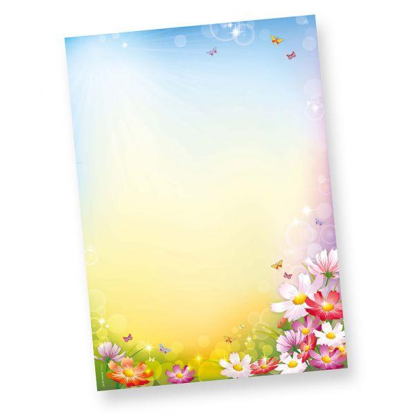 FLORENTINA Briefpapier (500 Blatt)  DIN A4 297 x 210mm 90 g/qm, Briefpapier mit Blumen bunt