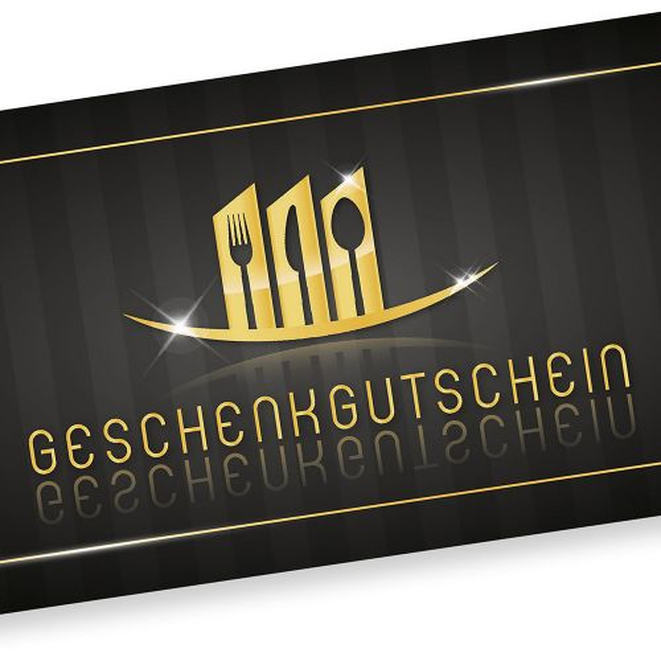 Geschenkgutscheine Restaurant (250 Stück) einfach Werte eintragen und stempeln, für Gastronomie