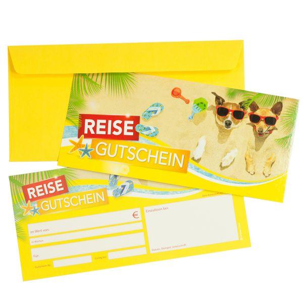 Reisegutscheine Reisebüro (25 Stück mit Umschläge) Gutscheine selbst ausfüllen und verkaufen