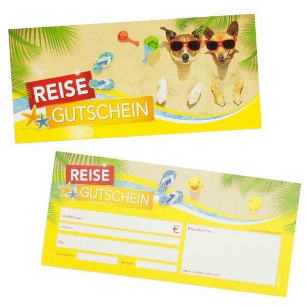 Reisegutscheine Reisebüro (25 Stück) Gutscheine selbst ausfüllen und verkaufen
