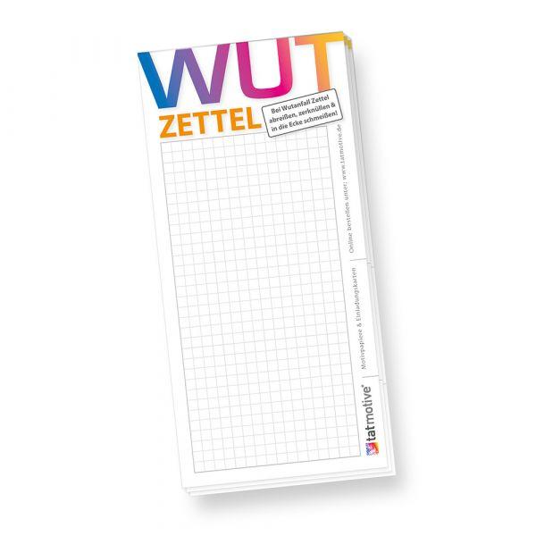 Schreibblock Wutzettel (4 Stück) Notzblock Notizzettel Merkzettel - für Wutanfälle