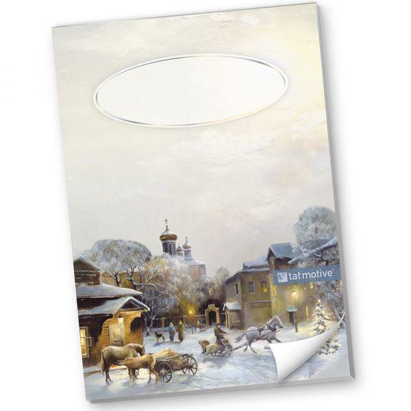 Schreibblock Weihnachten liniert DIN A4 Winter-Aquarell (10 Blöcke)
