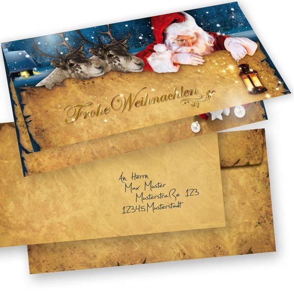 NORDPOL Express Weihnachtskarten 15er SET Klappkarten DIN lang mit Umschlag, Design by Tatmotive