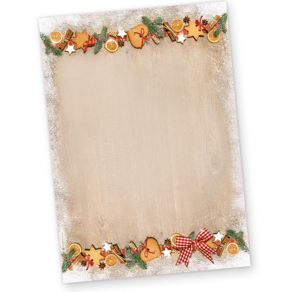 Briefpapier Weihnachten LANDIDYLLE (100 Blatt) Weihnachtsbriefpapier DIN A4
