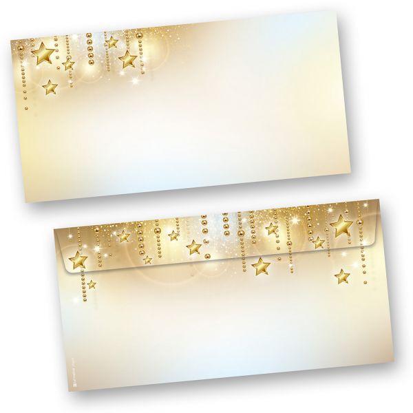 Briefumschläge Weihnachten STARDREAMS (50 Stück ohne Fenster) feines Weihnachtsmotiv