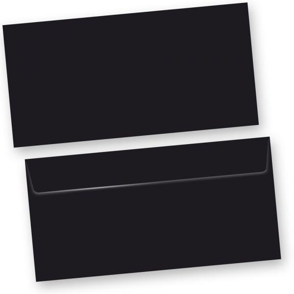 SKALA Briefumschläge Schwarz  (500 Stück) DIN lang Umschlag selbstklebend mit Haftklebestreifen