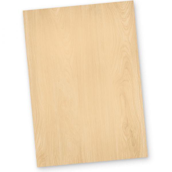 Briefpapier Holz-Optik MADEIRA (50 Blatt) Motivpapier DIN A4 beidseitig DIN A4 90g beidseitig