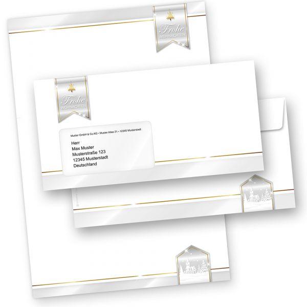 Business Design 100 Sets Briefpapier Weihnachten mit Umschläge mit Fenster geschäftlich kaufen
