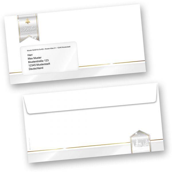 Business Design 250 Stück  Umschläge Weihnachten mit Fenster geschäftlich kaufen
