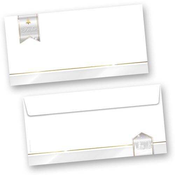 Business Design 50 Stück  Umschläge Weihnachten ohne Fenster geschäftlich kaufen
