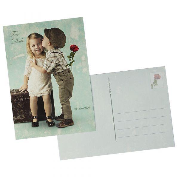 Postkarten First Love (100 Stück) DIN A6 Erste Liebe im Vintage-Stil