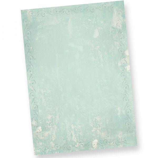 Briefpapier Türkis Grün marmoriert (20 Blatt)