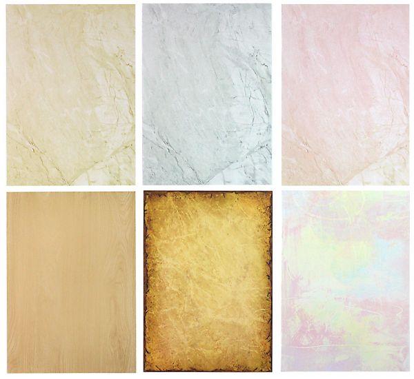 Briefpapier Mix Strukturpapier 6 x 10 Blatt, Briefpapiersammlung gemischt mit unseren beliebtesten Marmorpapieren