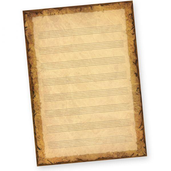 Notenblätter mit Notenlineatur DIN A4, 50 Blatt