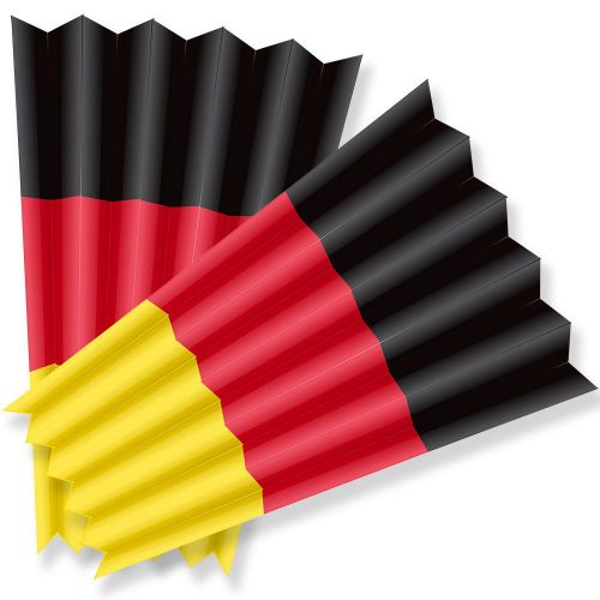 Klatschpappen - Fanklatschen - Klatschfächer Deutschland -10 Stück