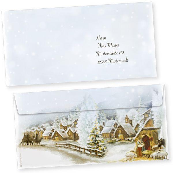 Weihnachtsdorf 500 Stück  Briefumschläge Weihnachten ohne Fenster