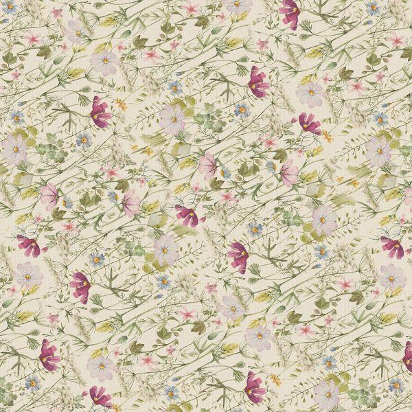Wildblumen Geschenkpapier Vintage Blumen 100 Bögen 84 x 59 cm, Öko Recycling-Papier nachhaltig gedruckt, für Geburtstag Geschenk