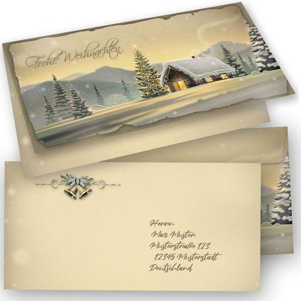 GLÖCKNERHÜTTE Weihnachtskarten 15er SET Klappkarten DIN lang mit Umschlag, Design by Tatmotive