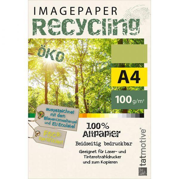 TATMOTIVE Imagepaper Öko-Recycling-Papier 100g/qm A4, FSC-zertifiziert, geeignet für alle Drucker, 4000 Blatt Kopierpapier, Druckerpapier