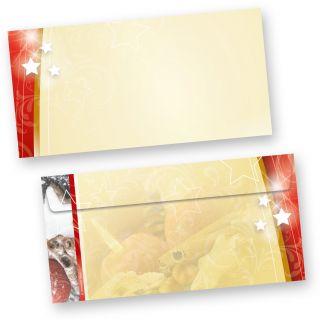 Weihnachten Umschläge (50 Stück ohne Fenster) lecker  Lebkuchen, beidseitig farbig, für tolle Weihnachtspost