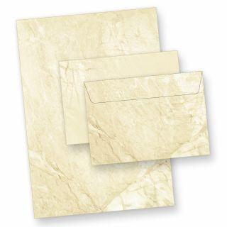 Briefpapier Set Marmor (10 Sets inkl. C6) DIN A4 inkl. Umschläge C6, beidseitig marmoriert
