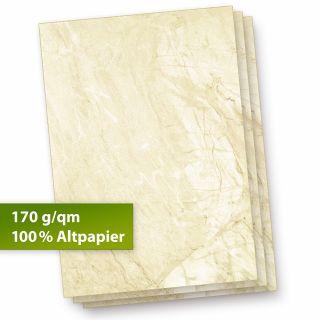 Karton Marmor A4 (25 Stück) 170 g/qm Beidseitig braun, Speisekarten Blätter Urkunden-Papier