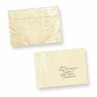 Briefumschläge Marmor C6 (50 Stück) beidseitig marmoriert