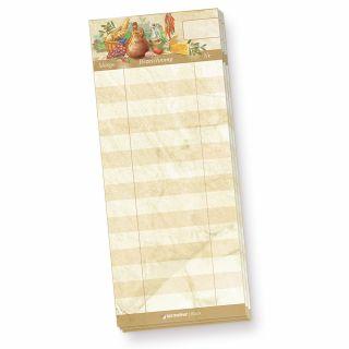 Schreibblock Kellnerblock (4 Stück) Notizblöcke braun marmoriert, ideal für Gastronomie, Restaurant