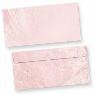 Briefumschläge Marmor Rot (50 Stück) DIN lang Umschlag mit rötlich marmoriertem Hintergrund. Passendes Briefpapier erhältlich oder auch als Set.