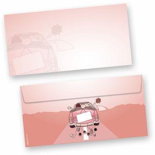 Briefumschläge Hochzeit (50 Stück) Umschlag für Hochzeitseinladung, Hochzeitsglückwünsche, Flitterwochen oder Dankesschreiben. Passend zum Briefpapier, oder auch als fertiges Set erhältlich.