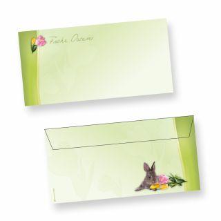 Umschläge DIN lang Osterhase (50 Stück ohne Fenster) Ostern Briefumschläge haftklebend