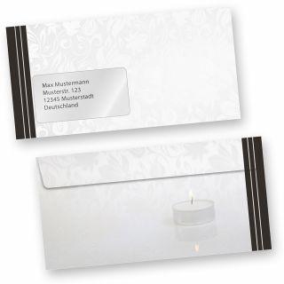 Briefumschläge Trauer (50 Stück MIT Fenster) DIN lang Trauer-Umschläge für Trauerbriefe oder Karten, MIT FENSTER. Passendes Briefpapier erhältlich oder auch als Set.
