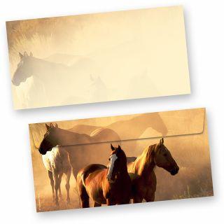 Briefumschläge Pferde (50 Stück)